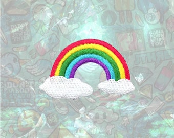 Rainbow Patch Cute Patch Iron on Patch Sew On Patches