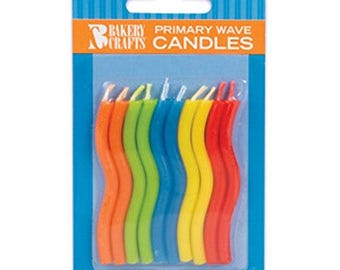 Primary Wave Birthday Candles