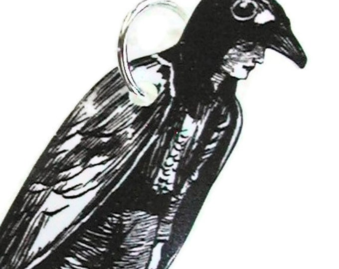 CROW BOY Necklace Small Pendant Gifts for her