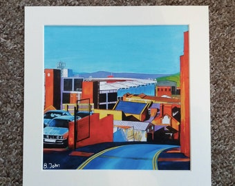 Limited edition print - New York Stadium Rotherham - print of an original painting by Bryan John