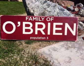 6x18 Population sign