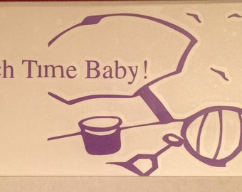 Beach Time Baby Vinyl Decal
