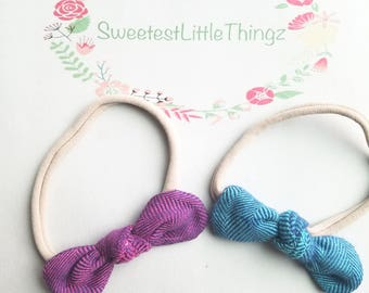 Flannel knot bow