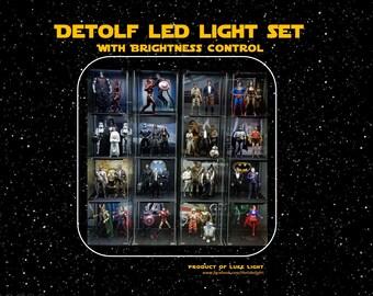 USB LED Light Set for Ikea Detolf with Brightness Control - Pure White Color Tone