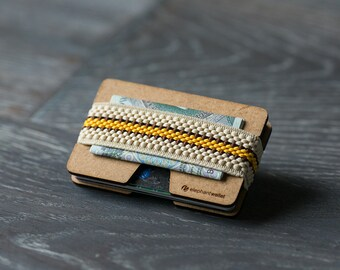 Slim wooden wallet, credit card wallet, women's and men's wallet, minimalist wallet, modern wallet, design wallet, N wallet
