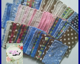 3pk flannel wipes cloth wipes reusable wipes baby wipes