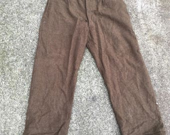 1930s French wool trousers