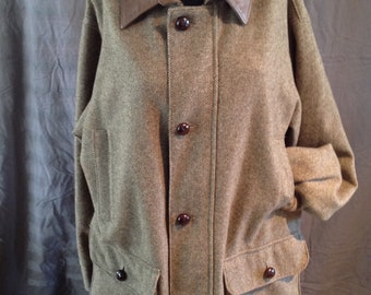 Koolah Jacket Wool/Leather Made in Canada Men's Large