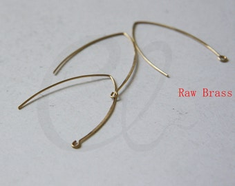 20 Pieces Raw Brass Earring Hooks - 42x32.5mm (1834C-I-459)