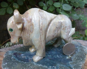 Extra Large Buffalo Soapstone Carving