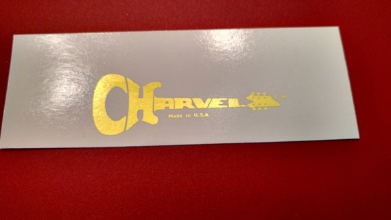 Charvel Guitar Decal in Gold Metallic - Waterslide ( Pictured in Gold Foil) X2