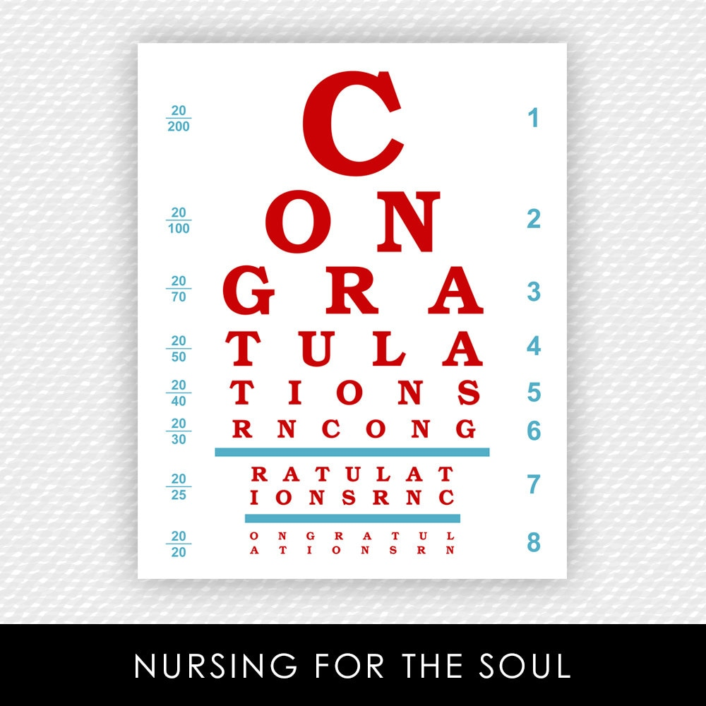 Nurse eye chart congratulations rn eye chart printable zoom geenschuldenfo Image collections