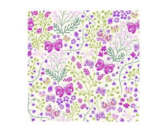 Garden Delights II 3GSF-4 Purple by In The Beginning Cotton Fabric Yardage