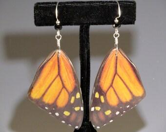 Monarch Butterfly Wings with Black Onyx Earrings