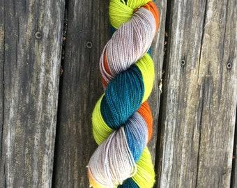 Micro Striping 80s Pants // BFL Sock // High Twist Sock Yarn // Blue Faced Leicester Sock Yarn