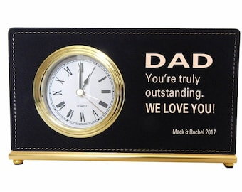 Gift for Dad from Kids - Dad Gifts Personalized - Father's Day Gift - Desk Clock - Fathers Day, LCD067