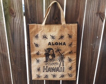 Free shipping - Vintage Market Bags - Hawaii Shopping Bag