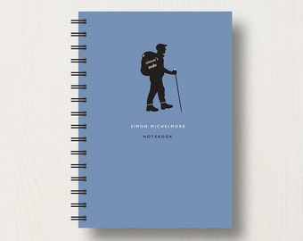 Personalised Walking Lover's Journal or Notebook