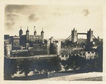 Vintage photo 1920 Tower of London United Kingdom
