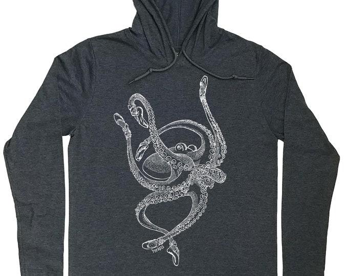 Hoodies for Men - Nautical Pullover - Ballet Dancer Gift - Ballet Hoodie - Dancer Hoodie - Octopus Hoodie - Light Weight Hoodie Mens Hoodie