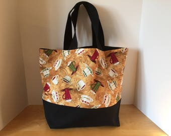 Large Tote Bag, Reusable Bag, Grocery Bag