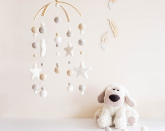 Baby Mobile, Crib Mobile, Mobile, Nursery Mobile, Cot Mobile, Felt Ball Mobile, Felt Mobile, Pom Pom Mobile, Crib Decor, Nursery Decor