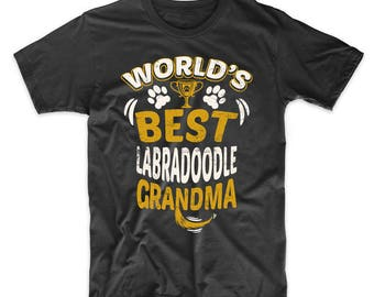 World's Best Labradoodle Grandma Graphic T-Shirt