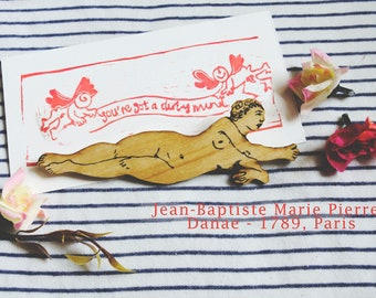Wood Cut Contemporary Jewellery - Wearable Illustrations - Baptiste Marie Pierre