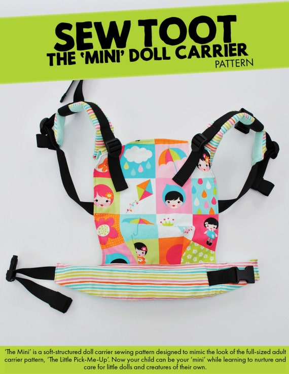Doll Carrier Pattern The Mini by Sew Toot Digital PDF