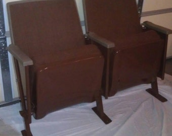 Vintage Two Movie Theater Theatre Auditorium Seats Chairs 1978