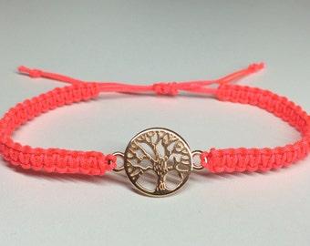 Macramee Bracelet Tree of Life Rosegold
