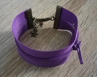 Bracelet purple closure - gift idea