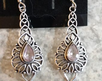 Rose Quartz Charm Earrings