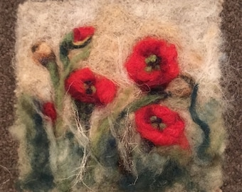 Poppy Art 3. Flower picture. Joy of outdoors in summer, harvest time and autumn. Great for birthday gifts, Christmas or housewarming