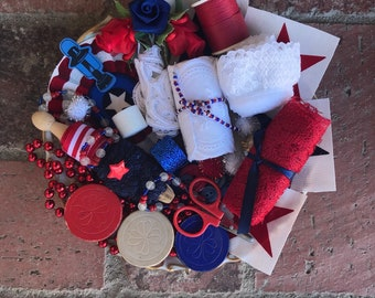 Red White and Blue---Inspiration Kit --