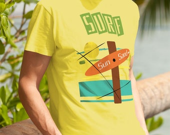 Surf Sun and Sand Sunset Beach Trip Shirt Family Vacation Surfer Unisex Ocean Group Tshirt Unisex