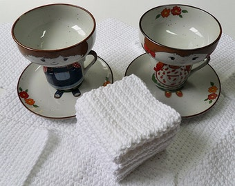 Crochet / White Dish Cloths