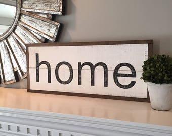 HOME sign, hand painted, wood pallet, farmhouse sign