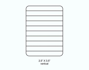 Index Card Lines Rubber Stamp 508 or 509
