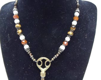 Chamberlain's Necklace - Tiger's Eye and Brass
