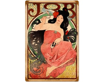 """Mucha Jobs Rolling Papers Metal Sign 12"""" X 18"""" or 24"""" X 36"""""""