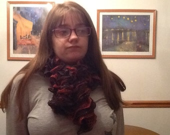 Crochet Scarlet And Berry Twist Scarf