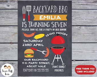 bbq party invitation bbq birthday party invitation