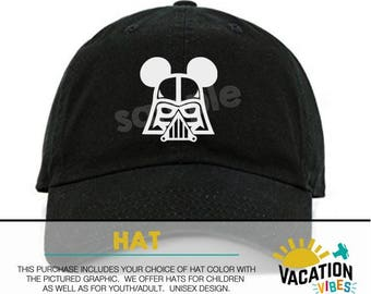 Mickey star wars Disney Hat darth vader Toddler Boy or Girl - Kids Disneyland Hat vader - Disney Mickey Baseball Cap - starwars dark side