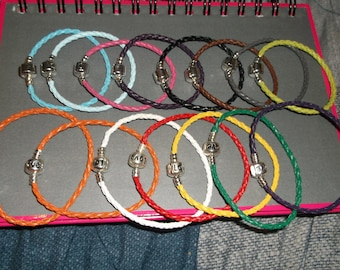 child or adult braided leather bracelet