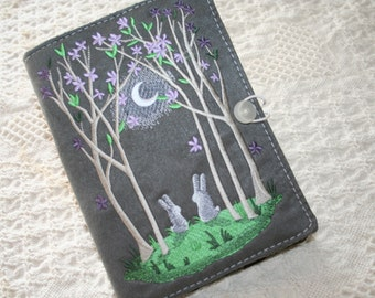 Bunnys in the Moon Light Kindle Cover or Book Cover