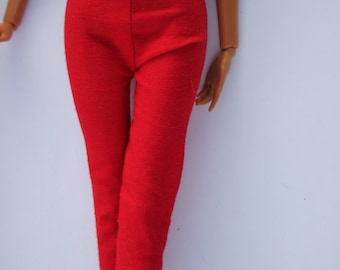 11.5 inch dolls clothes - red pants (40)