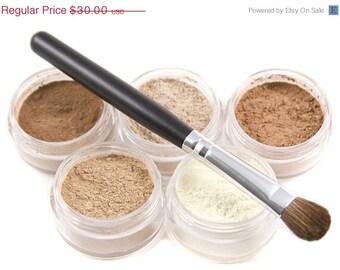 Mineral Makeup Eyeshadow 6pc Neutrals Pure Natural Vegan makeup - Beneficial Minerals