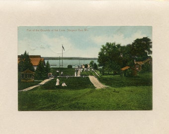 Vintage Postcard Part of the Grounds at the Cove at Sturgeon Bay Wisconsin by R Weitlich Joe Dusold Manitowoc Wi - 9610