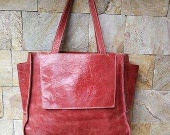 Boho Leather Bag, big leather Tote Bag, Leather Shoulder Bag, Leather Handbag, Leather Tote, Woman Leather Bag, Leather Bags Women